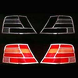 Накладки декоративные хром Volkswagen Golf на фонари 8077