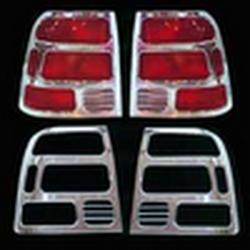 Накладки декоративные хром Volkswagen Passat B6 2001 г.в. на фонари 8048
