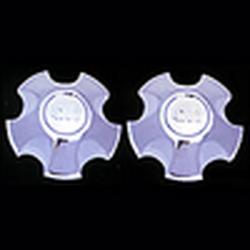 Накладки декоративные хром Toyota Land Cruiser FJ 100 1998-2004 г.в. крышка на литье 8439 (2шт.) 4700
