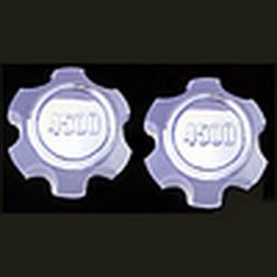Накладки декоративные хром Toyota Land Cruiser FJ 80 крышка на литье 8438 (2шт.) 4500