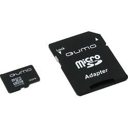 MicroSD 16 Gb + SD адаптер (class 10) Qumo
