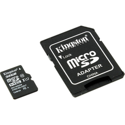 MicroSD 32 Gb + SD адаптер (class 10) Kingston