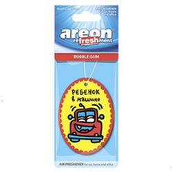 """AREON ароматизатор бумажный GC DESIGN """"Ребенок в машине!"""" бубль гум"""