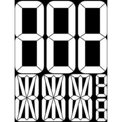 """наклейка """"Автономер (трафарет)"""" наружная, (цвет белый), 31х40 см"""
