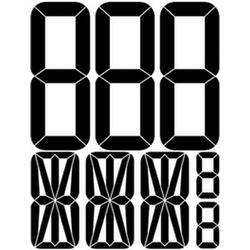"наклейка ""Автономер (трафарет)"" наружная, (цвет черный), 31х40 см"