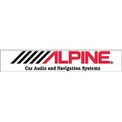 """наклейка """"ALPINE"""" внутренняя, 70 см, прозрачный фон"""