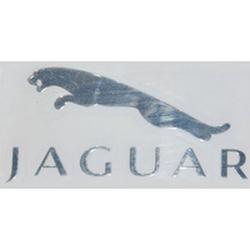 "Наклейка (вырезанная) ""JAGUAR"" наружная, (цвет хром), 23846 5,0х2,4 см"