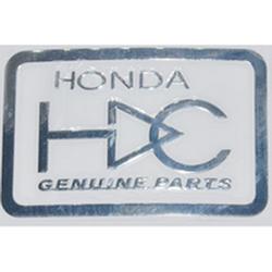 """Наклейка (вырезанная) """"HONDA genuine parts"""" наружная, (цвет хром), 23847 5,2х3,4 см"""