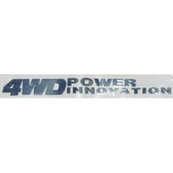 """Наклейка (вырезанная) """"4WD power innovation"""" наружная, (цвет хром), 23856 6,5х0,6 см"""