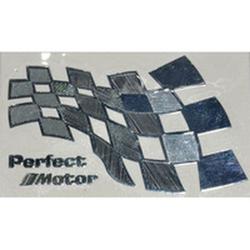"""Наклейка (вырезанная) """"Perfect Motor"""" наружная, (цвет хром), 23864 6,0х3,5 см"""