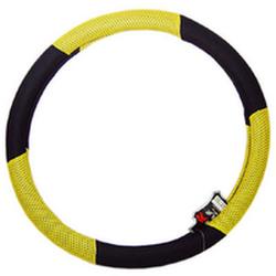 """Оплетка на руль 1008 L """"сетка"""" черная+желтая"""