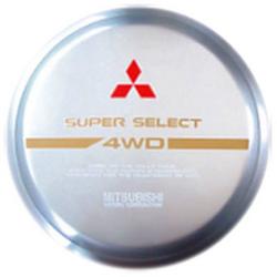 Чехол на запаску STC-03-4A 265-70-R15 MITSUBISHI жесткий с хромированным ободом и серой вставкой