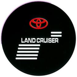 """Чехол на запаску кож-зам BT009A Toyota Land Cruiser 16"""" черный"""