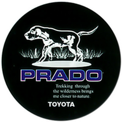 "Чехол на запаску кож-зам BT005B Toyota Land Cruiser Prado 16"" черный"