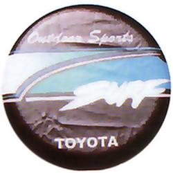 "Чехол на запаску кож-зам BT004B Toyota SURF 15"" черный"