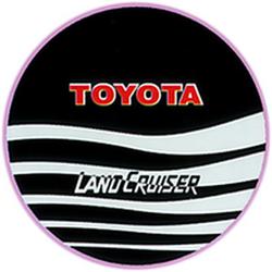 """Чехол на запаску кож-зам BT008A Toyota Land Cruiser 15"""" черный"""