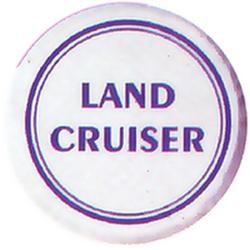 """Чехол на запаску кож-зам BT005A Toyota Land Cruiser 16"""" черный"""