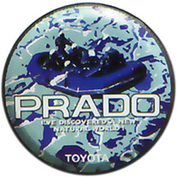 "Чехол на запаску кож-зам BT009B Toyota Land Cruiser Prado 16"" черный"