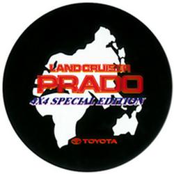 "Чехол на запаску кож-зам BT007B Toyota Land Cruiser Prado 16"" черный"