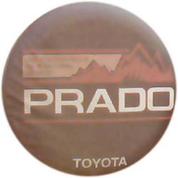"Чехол на запаску кож-зам BT007C Toyota Land Cruiser Prado 16"" черный"
