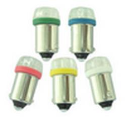 Лампочки светодиодные T10 BA9S-04 синие с цоколем 4 LED 12В (1шт.) уп.100 шт.