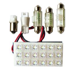 "Вставка светодиодная ""площадка"" T11 30х60 мм белая 18 LED SMD ""пиранья"" POWER, 12В (1шт.) уп. 10 шт."