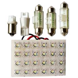 "Вставка светодиодная ""площадка"" T11 40х60 мм белая 24 LED SMD ""пиранья"" POWER, 12В (1шт.) уп. 10 шт."