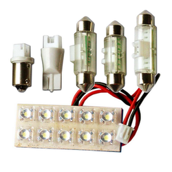 "Вставка светодиодная ""площадка"" T11 20х50 мм зеленая 10 LED SMD ""пиранья"" POWER, 12В (1шт.) уп 10 шт"