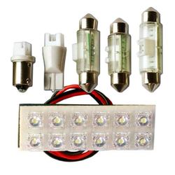 "Вставка светодиодная ""площадка"" T11 20х60 мм зеленая 12 LED SMD ""пиранья"" POWER, 12В (1шт.) уп.10 ш"