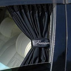 """Шторки раздвижные гориз. боковые 36929 ВК """"MAX"""" комплект на окна а/м, 2шт, размер L, 50 см., черные"""