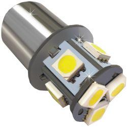 Лампа светодиодная 12v (21/5w) BAY15d (2конт) 8 SMD диодов, белая (габариты, стоп-сигнал)