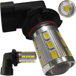 Лампочки светодиодные 9006 (HB4) белые без цоколя 2 конт. 18 LED SMD 5730 + 1x3W 6300K 12-24B