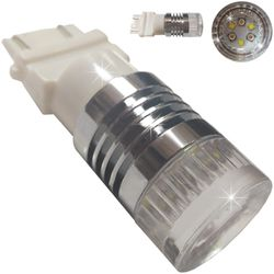 Лампочки светодиодные 3157 6 LED CREE бел/жел б/ц 2к 30W LENS MT 3Y+3W lm A 12-30В V3