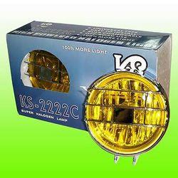 Фара противотуманная KS-2222 Y (желтая, с решеткой, , хром), 2шт.