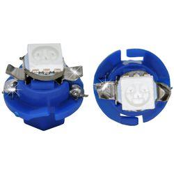 Лампочки светодиодные B8.4d синие 1 LED 5050 SMD d-8,0 с верхними контактами (с ручкой под отв.)
