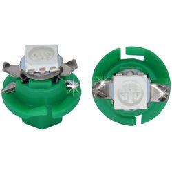 Лампочки светодиодные B8.4d зеленые 1 LED 5050 SMD d-8,0 с верхними контактами (с ручкой под отв.)